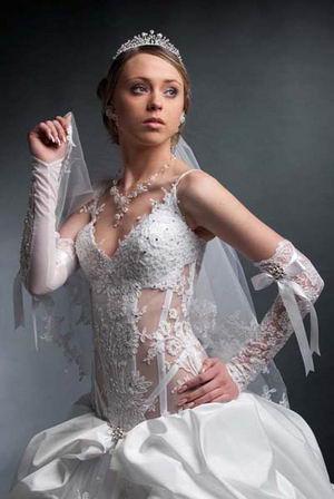 Кружевные свадебные платья (40 фото.
