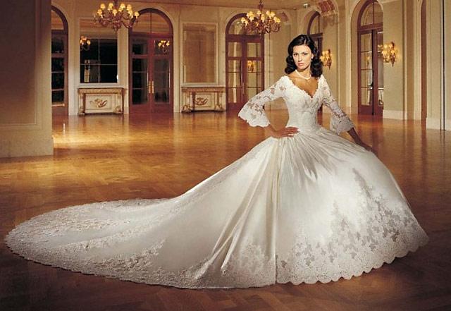 Фасоны свадебных платьев 2012 года